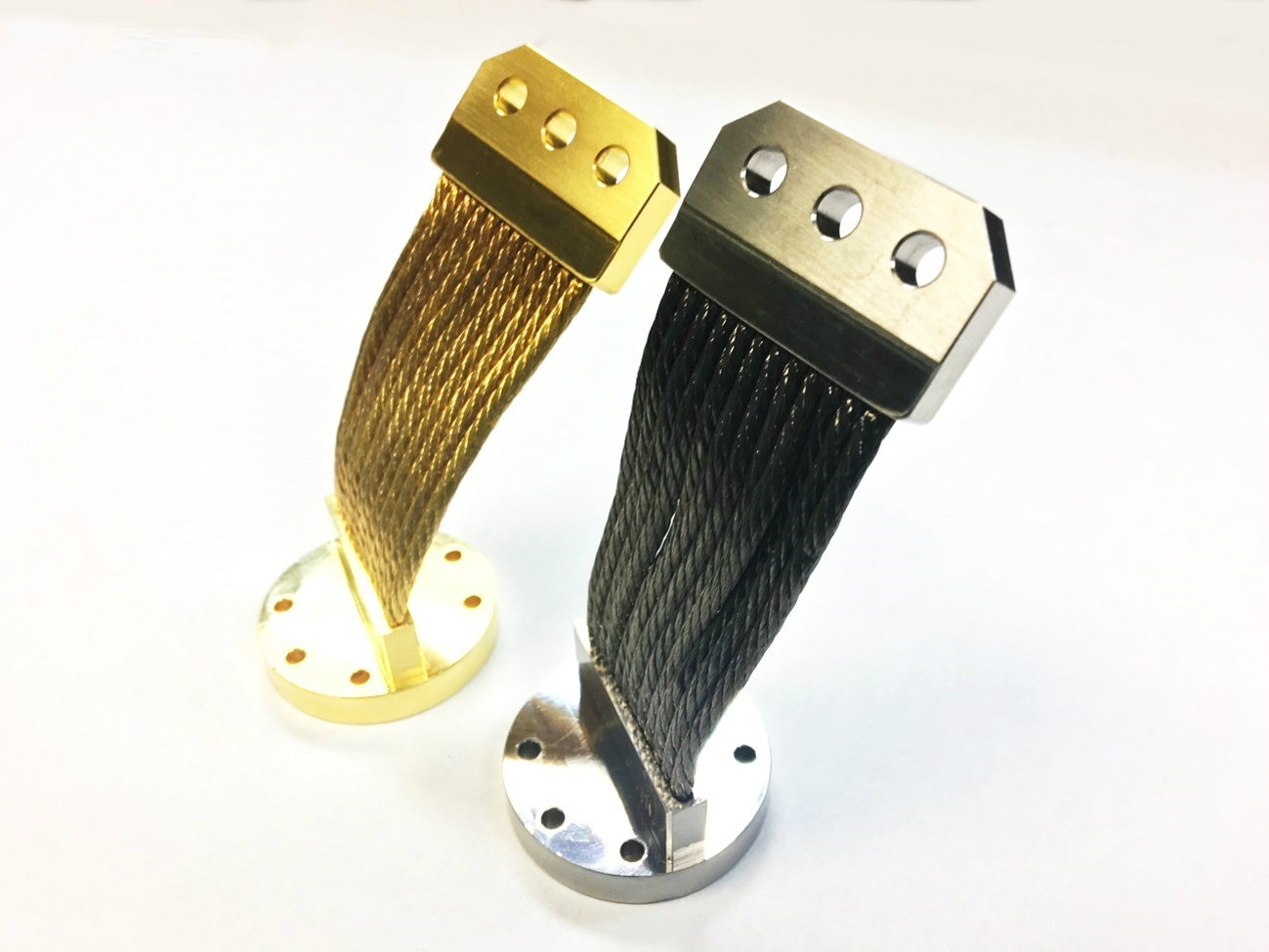 Nickel and Gold Plated Cryocooler Series Thermal Straps/Links