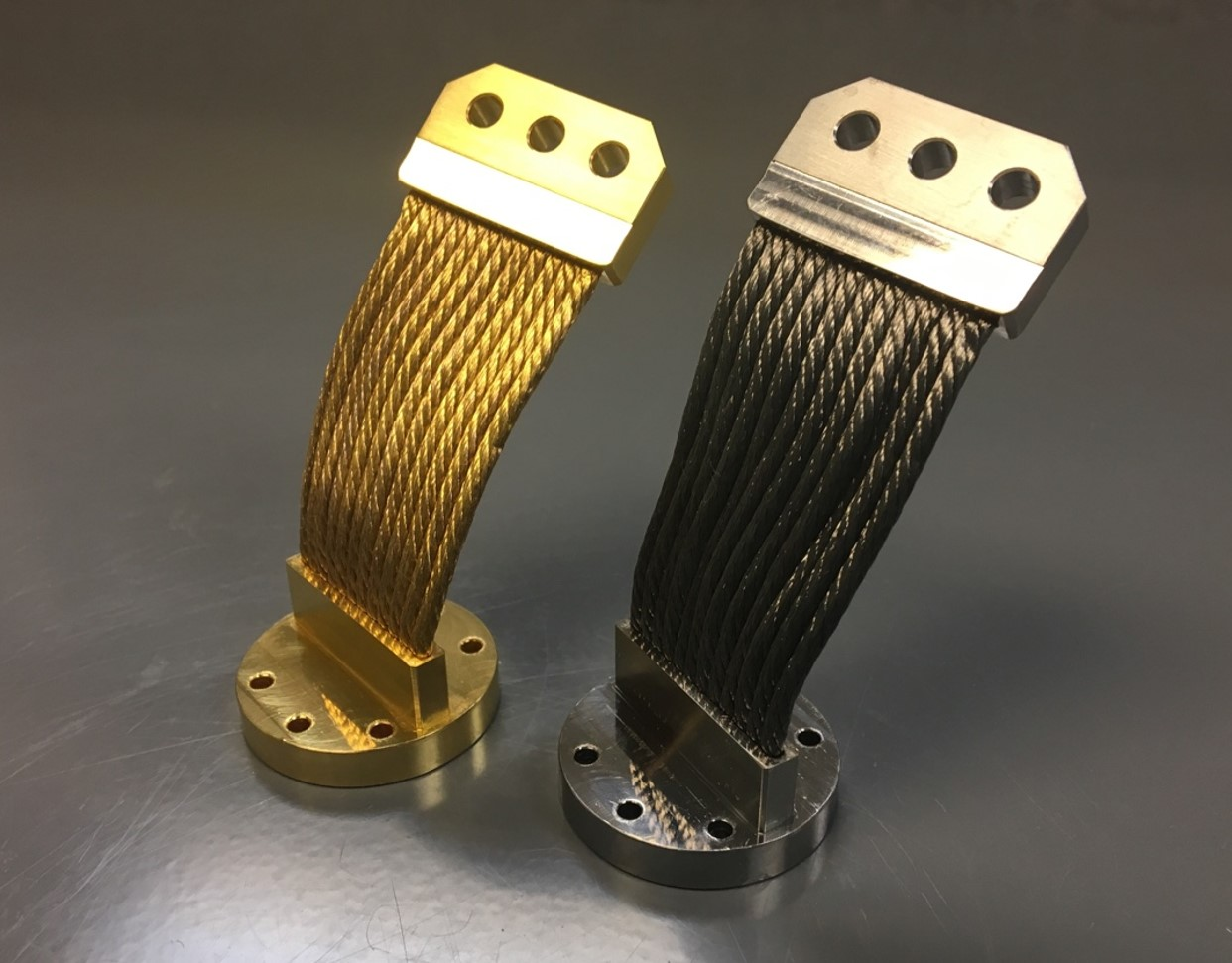 Cryocooler Thermal Straps - Gold and Nickel Plated