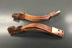 Copper Thermal Strap - offset multiplanar end fitting