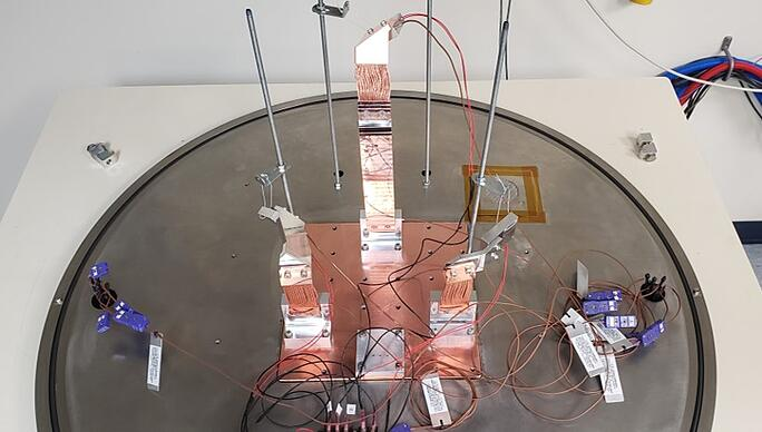 OHB EnMAP Copper Thermal Strap Conductance Test