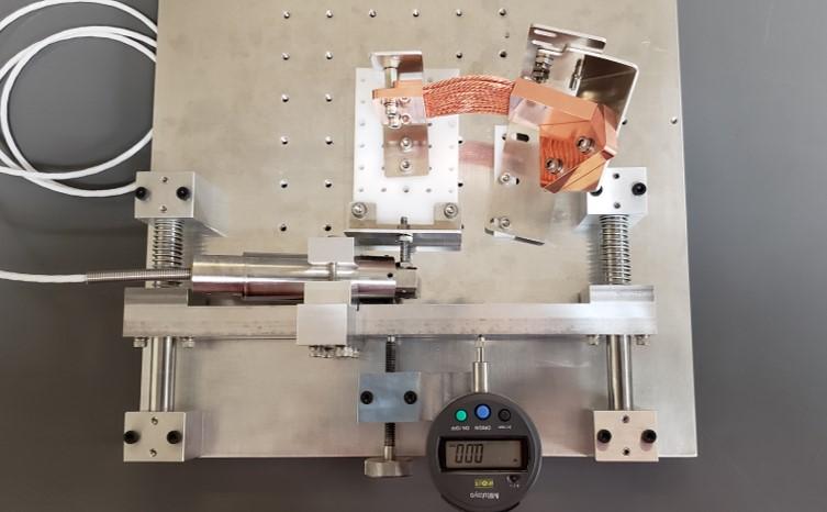 OHB EnMAP Copper Thermal Strap Stiffness Test 2