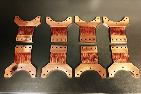 1st Stage Cryocooler Thermal Straps - TAI Manufactured for Janis Research Systems